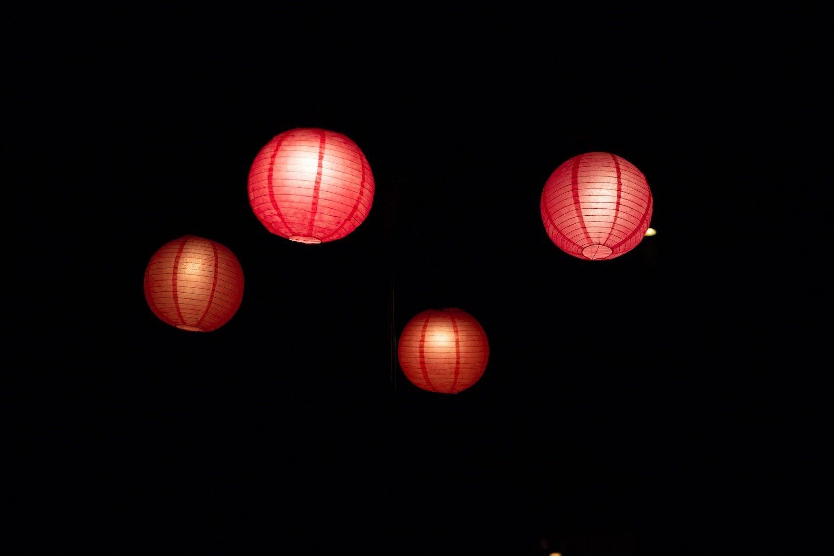 Chinese Lanterns In Sky