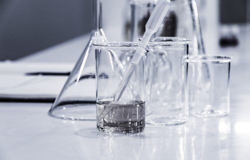 Stem Cells In Test Beakers Pippet