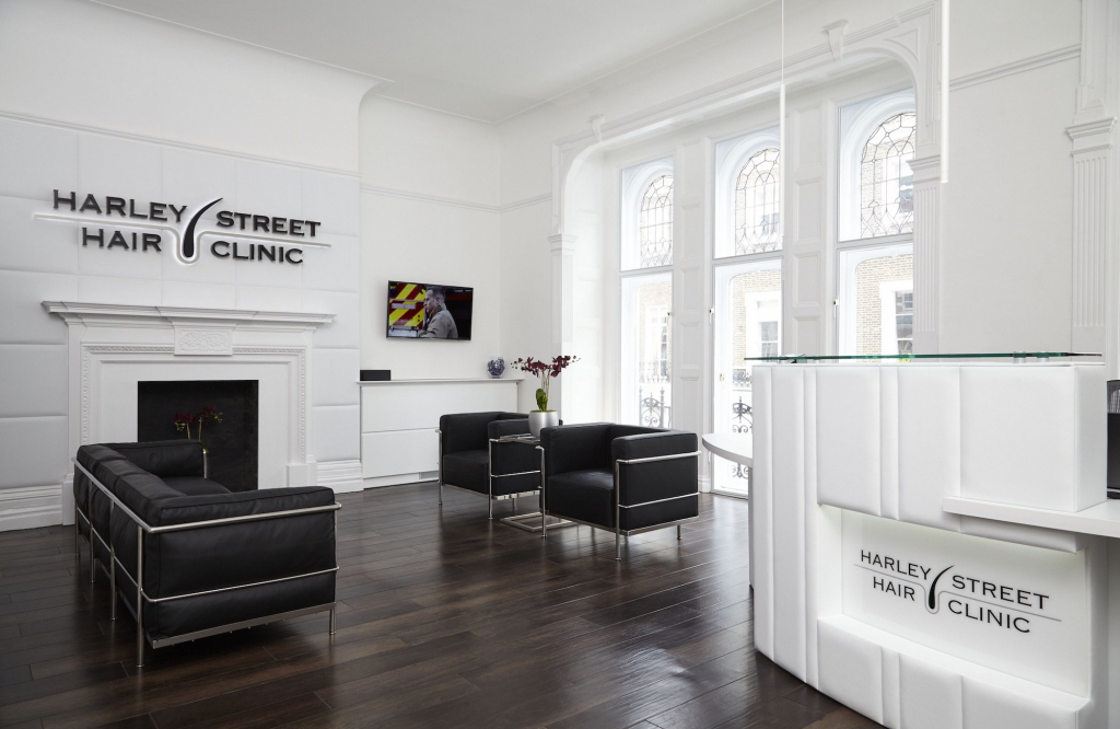 Harley Street Hair Clinic New Building Reception